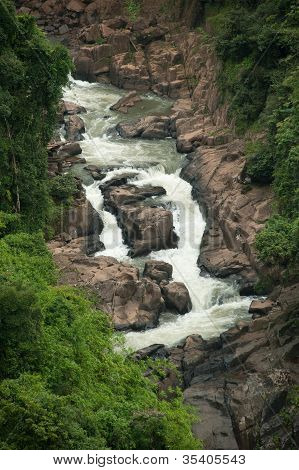 View Point Of Haw Narok Waterfall In National Park, Thailand. poster