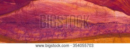 Coloured Canyon Is A Rock Formation On South Sinai (egypt) Peninsula. Desert Rocks Of Multicolored S