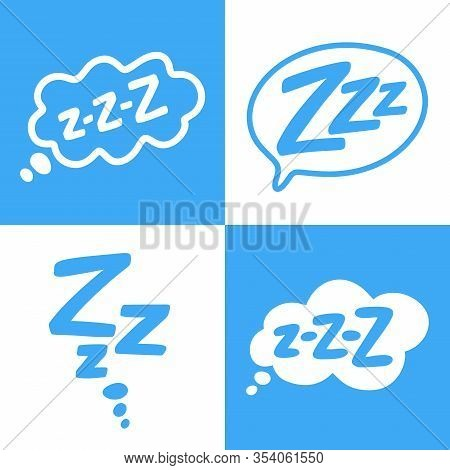 Zzz Text On Text Bubble. Icon For Sleeping Mode