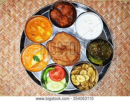 Indian Fasting Cuisine Upwas Items Thali Complere Meal For Religious
