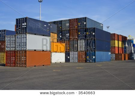 Orange And Blue Containers
