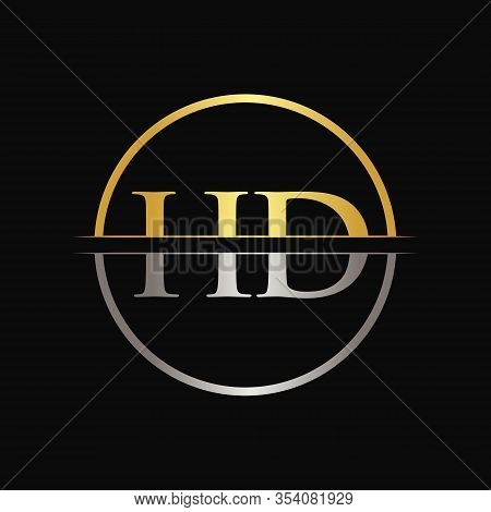 Hd Letter Type Logo Design Vector Template. Abstract Letter Hd Logo Design