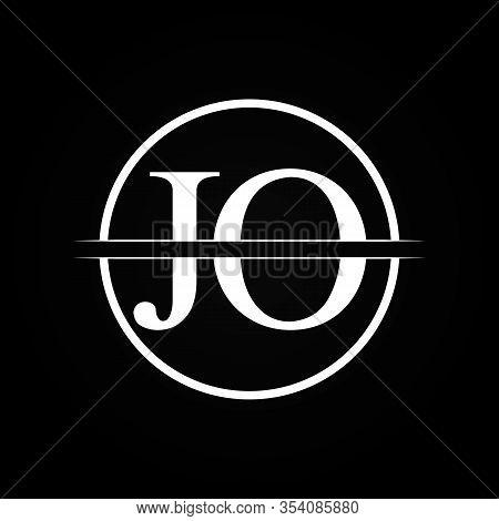 Jo Letter Type Logo Design Vector Template. Abstract Letter Jo Logo Design