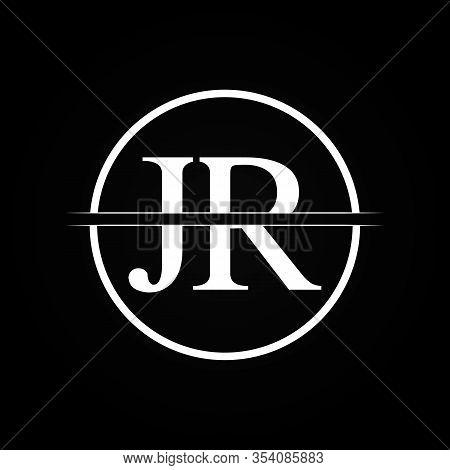 Jr Letter Type Logo Design Vector Template. Abstract Letter Jr Logo Design