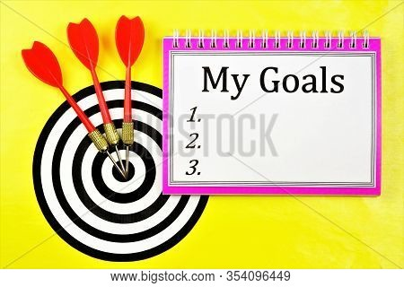 My Goals Are Accurate Planning In Business And Education. Perspective Idea, Project, Development Of