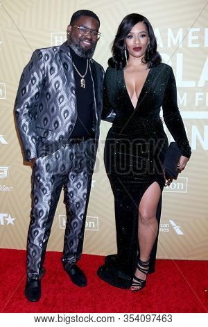 LOS ANGELES - FEB 23:  Lil Rel Howery, Melyssa Ford at the American Black Film Festival Honors Awards at the Beverly Hilton Hotel on February 23, 2020 in Beverly Hills, CA