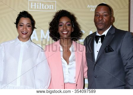 LOS ANGELES - FEB 23:  Roxanne Taylor, daughter, Deon Taylor at the American Black Film Festival Honors Awards at the Beverly Hilton Hotel on February 23, 2020 in Beverly Hills, CA