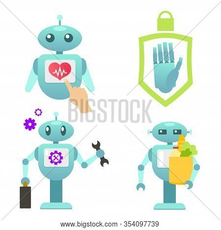 Robo Adviser Health Help, Help Disabled People, Robot Consultant, Smart Robot For Health, Personal R