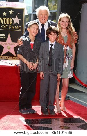 LOS ANGELES - FEB 24:  Tony Butala and grandchildren at the The Lettermen Star Ceremony on the Hollywood Walk of Fame on February 24, 2019 in Los Angeles, CA