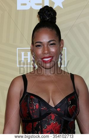 LOS ANGELES - FEB 23:  Angela Lewis at the American Black Film Festival Honors Awards at the Beverly Hilton Hotel on February 23, 2020 in Beverly Hills, CA