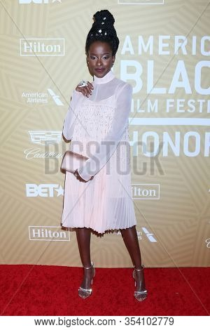 LOS ANGELES - FEB 23:  Amanda Gorman at the American Black Film Festival Honors Awards at the Beverly Hilton Hotel on February 23, 2020 in Beverly Hills, CA