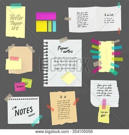 Paper Notes On Stickers, Board, Notifications On The Fridge, Paper Notes And Stickers, Handwritten T