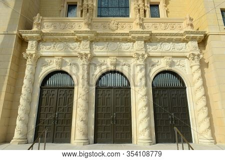 St. Edward Roman Catholic Church Built In 1927 Is A Spanish Revival Style Church In Palm Beach, Flor