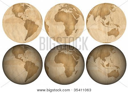 Earth Made Of Brown Paper