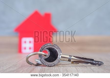 The Key To Enter The House Is To Be Placed On The Wooden Floor In The House. The Image Is Used For S
