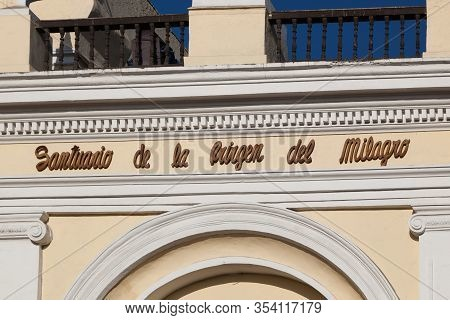 Lima - May 10 : Sanctuary For The Virgin Of The Miracle In The Church Of San Francisco In Lima. May