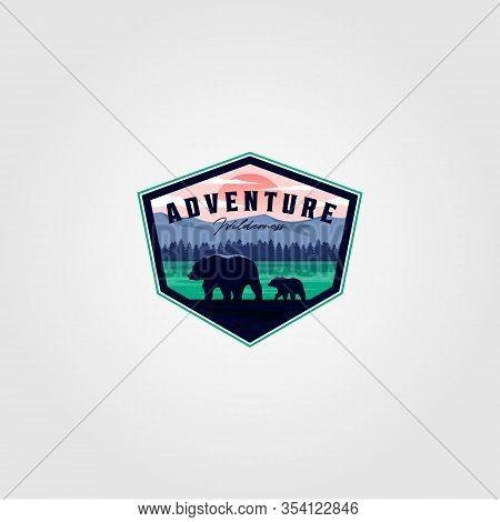 Wilderness Adventure Vintage Logo Vector Illustration Design