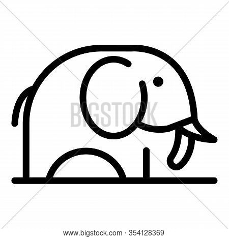 Africa Elephant Icon. Outline Africa Elephant Vector Icon For Web Design Isolated On White Backgroun