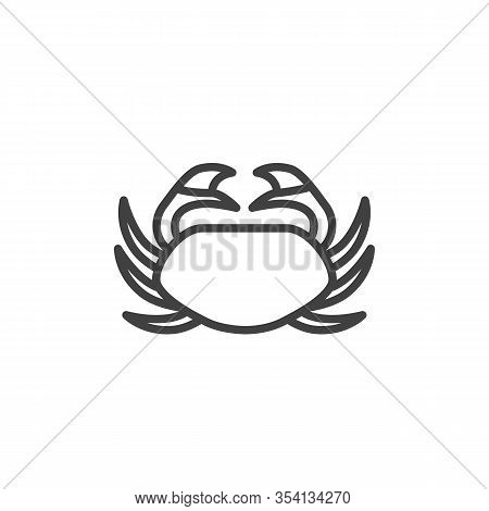Sea Crab Line Icon. Linear Style Sign For Mobile Concept And Web Design. Crustacean Outline Vector I