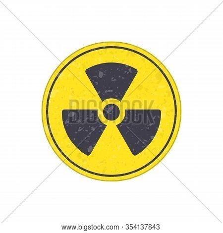 Radioactive Icon Nuclear Symbol. Danger Yellow Radioactive Or Radiation Sign. Vector Illustration In