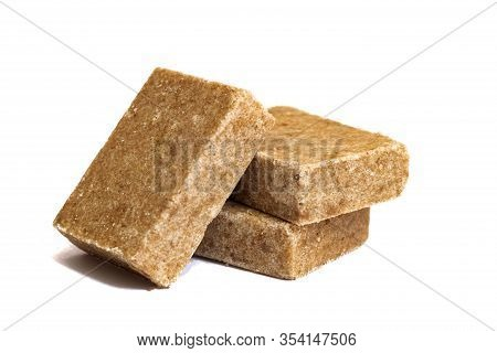 Three Bouillon Cubes Isolated On White Background