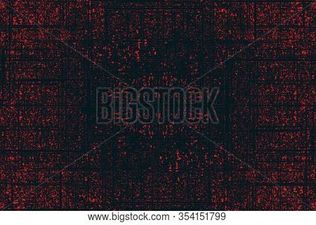 Red With Grunge, Grit And Random Black Lines Texture Background. Cover, Any Background, Backdrop, Pa
