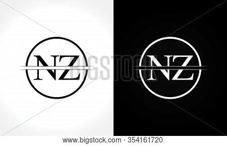 Initial Monogram Letter Nz Logo Design Vector Template. Nz Letter Logo Design