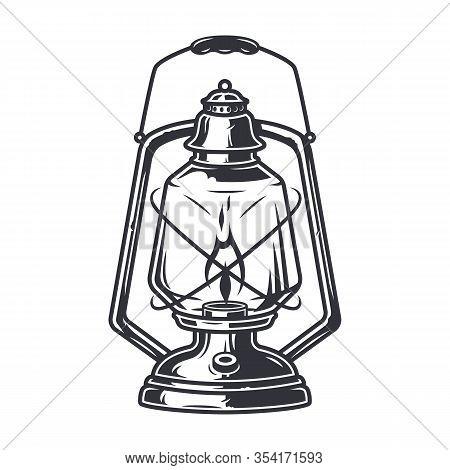 Retro Camping Kit Kerosene Lamp Old Lantern