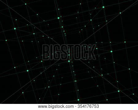 Trendy Line Art Advertising With Abstract Lines On Dark Background For Decoration Design. Graphic De