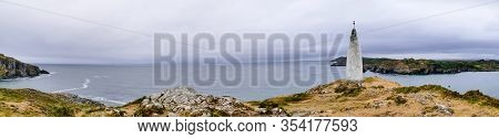 Panorama Cliffs Of Baltimore With Lighthouse Ireland