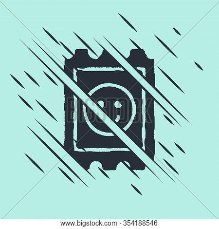 Black Lsd Acid Mark Icon Isolated On Green Background. Acid Narcotic. Postmark. Postage Stamp. Healt
