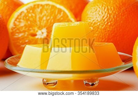 Orange Marmalade From Agar Agar. Healthy Vegetarian Sweets. Healthy Eating Is The Substitution Of Th