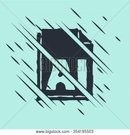Black Ai File Document. Download Ai Button Icon Isolated On Green Background. Ai File Symbol. Glitch