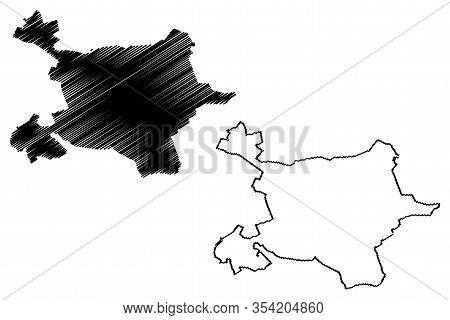 Tirana City (republic Of Albania) Map Vector Illustration, Scribble Sketch City Of Tirana Map