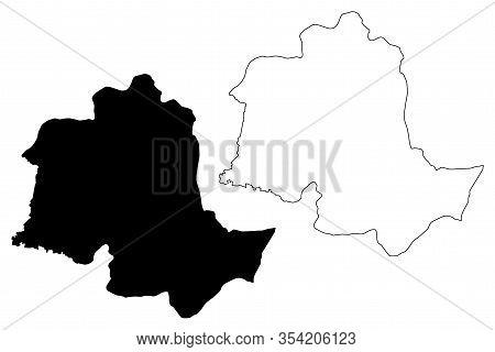 Potaro-siparuni Region (administrative Regions Of Guyana, Co-operative Republic Of Guyana) Map Vecto