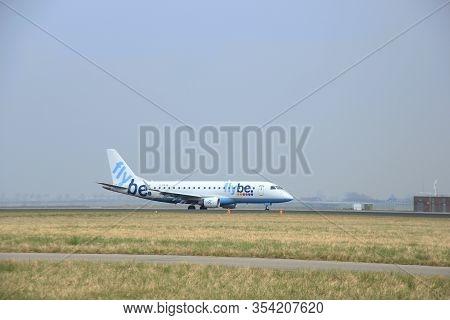 March, 24th 2015, Amsterdam Schiphol Airport  G-fbjb Flybe Embraer Erj-175std (erj-170-200) Landing
