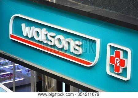 Bangkok, Th - Dec 11: Watsons Pharmacy Facade On December 11, 2016 In Bangkok, Thailand.