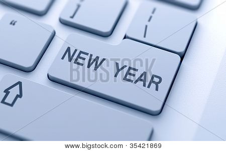 New Year Button