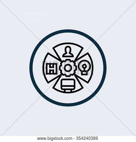 Role Playing Game Icon Isolated On White Background. Role Playing Game Icon Simple Sign. Role Playin