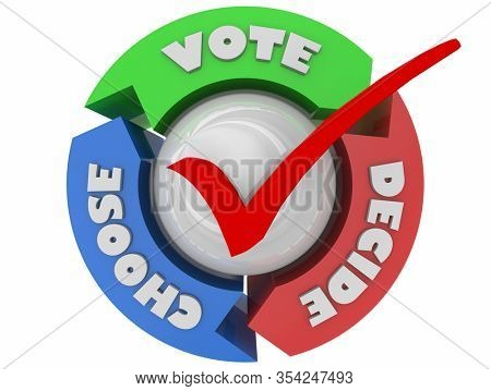 Vote Choose Decide Election Democracy Arrows Cycle 3d Illustration