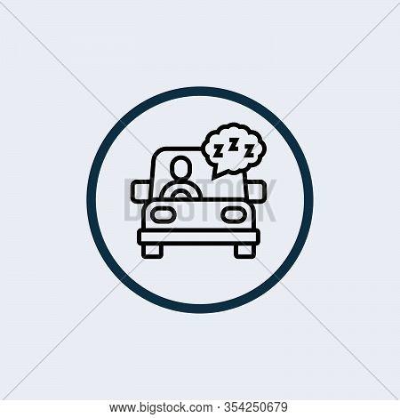 Sleepiness Line Icon. Sleeping Woman, Drowsy, Fatigue. Sleep Concept. Can Be Used For Topics Like In