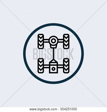 Steering Wheel Icon Isolated On White Background From Amusement Collection. Steering Wheel Icon Tren