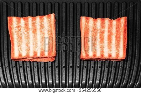 Single Toast Against White Background Food, Paper, Toast, Snack, Sliced, Meal, Bread, Grilled, Sandw