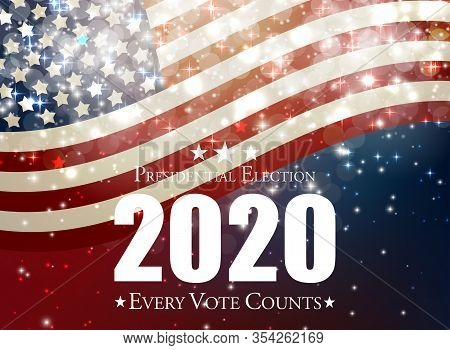 2020 United States Of America Presidential Election Background. Vector Illustratio