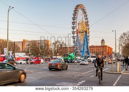 Street Life In The Center Of Berlin.