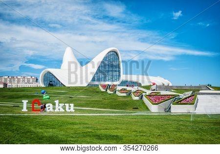 Baku, Azerbaijan-may 16, 2017: Heydar Aliyev Center In Baku Azerbaijan