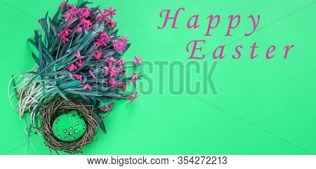 Easter Eggs. Happy Easter. Multi-colored Easter Egg. Easter. Easter Background. Easter. Easter Card.