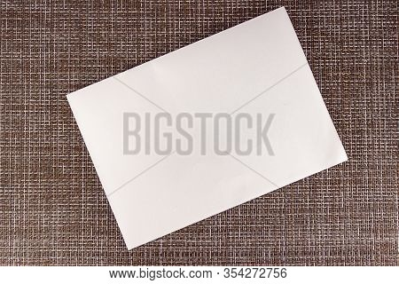 Brown Canvas Texture Or Background And Empty Space. Hessian Sackcloth Woven Texture Pattern Backgrou