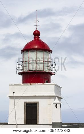 The Photo Shows A Lighthouse On The Atlantic Island Madeira