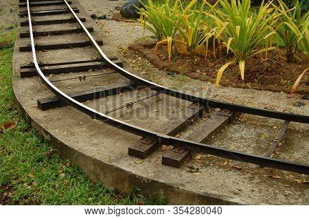 Laguna, Ph - Mar. 6: Enchanted Kingdom Theme Park Train Rail Track On March 6, 2020 In Santa Rosa, L